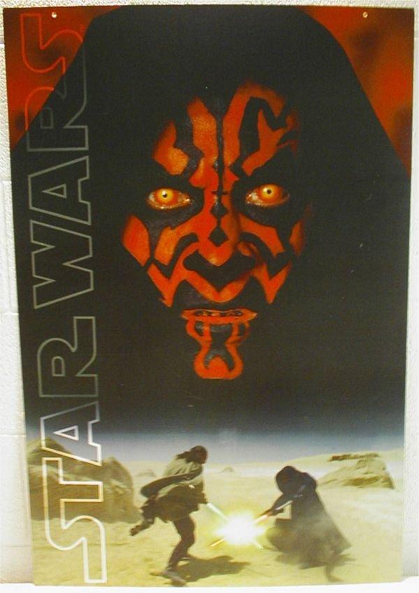3020: Star Wars Promo Hanging Hard Poster 36 H x 24 W ,