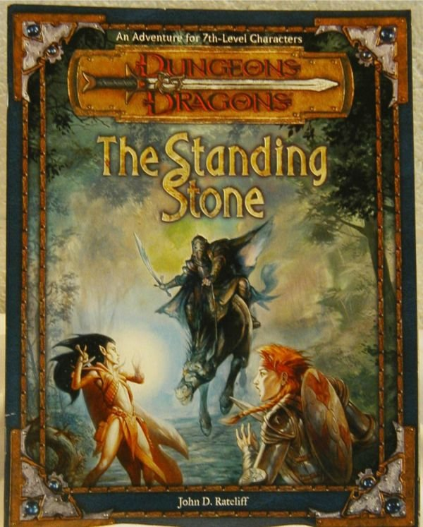 3018: Dungeons & Dragons Standing Stone, HC, Signed by