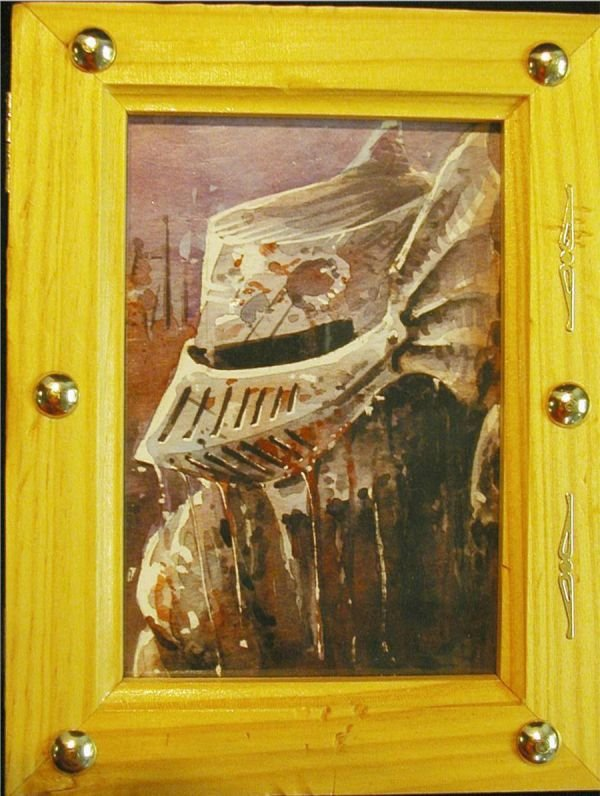 3017: Original Art , The Gladiator, Covered Wooden Box