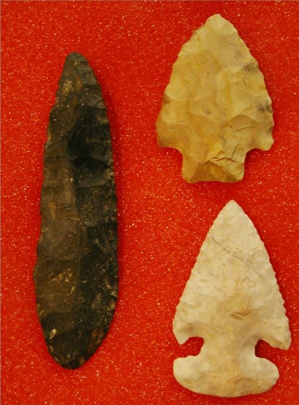 4011: Frame of Three Flints, Found in Ohio