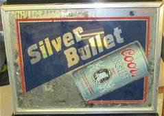 Vintage 1987 Silver Bullet Coors Light Beer Back Lit