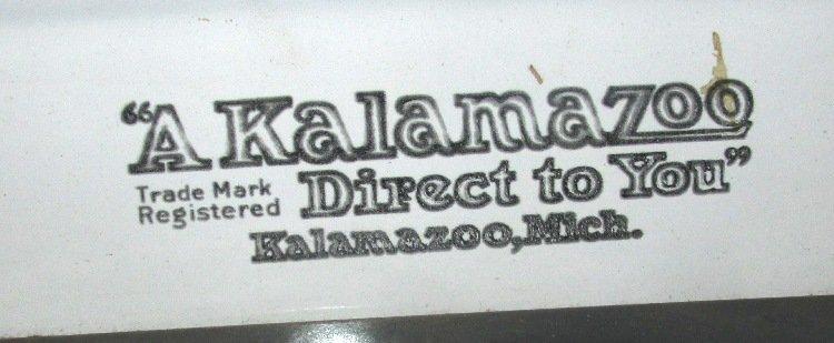 Antique Kalamazoo Prince Stove Enamel Iron, Wood/Coal - 3