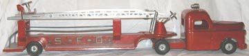 Structo Aerial Fire Truck c 1950's