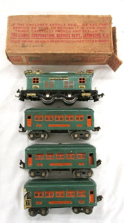 Lionel #253 Pre-War O Guage Passenger Train Set
