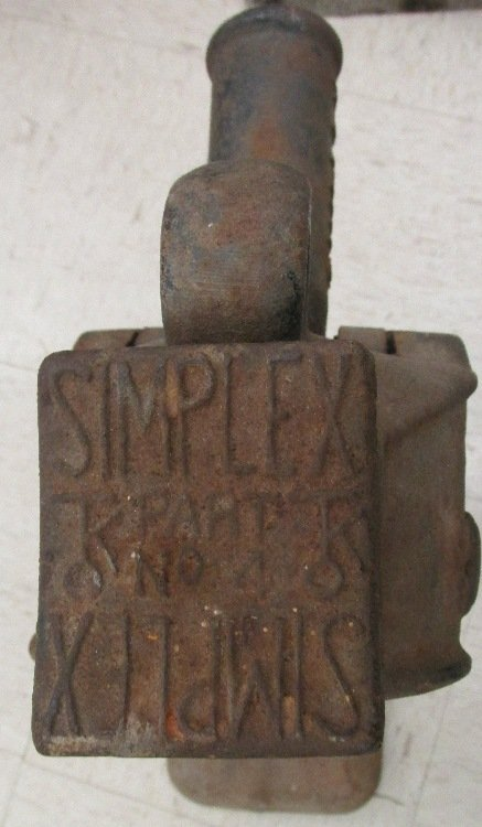 Vintage Simplex #22 Railroad 10-Ton Jack, Weighs 62 lbs - 2