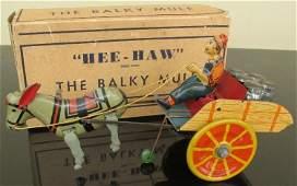 MARX Tin Windup HEE HAW THE BALKY MULE w/Box