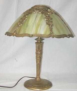 1013: Miller & Co. Slag Glass Lamp