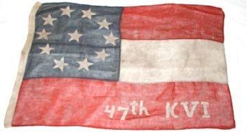 2014: Civil War Flag, 47th Kentucky Vol.
