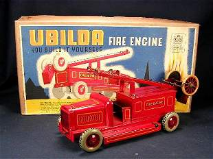 Chad Valley UBuild Fire Engine with Box