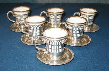 1001: Six American Belleek Demitasse Cups