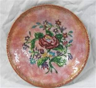 Limoges Enamel over Brass Dish