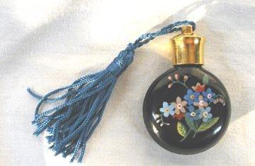1007: HP Black Milkglass Perfume Bottle