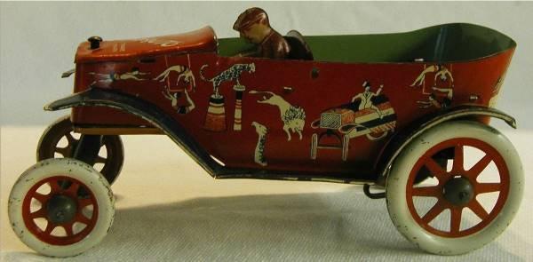 1007: Strauss Trick Auto, 8 Inch Long, Tin Litho