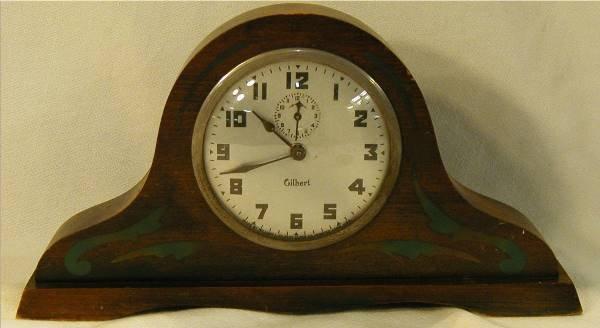 1018: Gilbert Mantle Clock, 13 W x 7 H x 1 3/4D