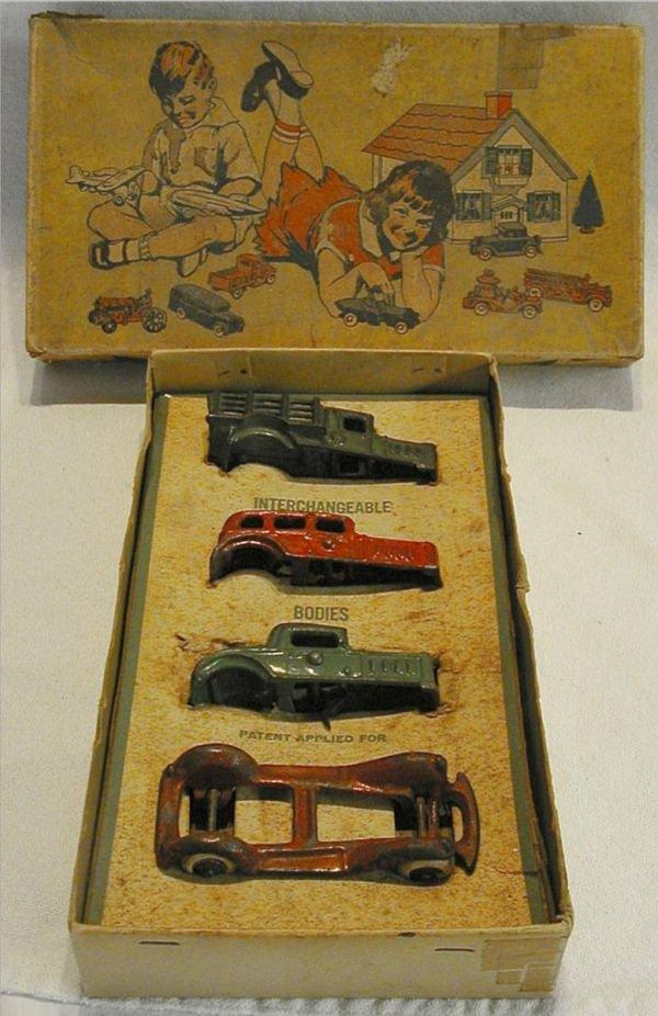 1131: A.C. Williams Interchangable Boby Cars with RARE
