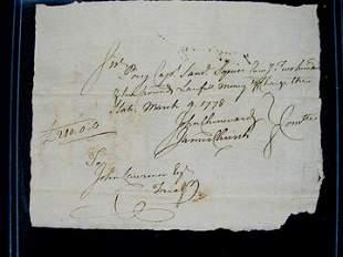 Revoltionary War Pay Document
