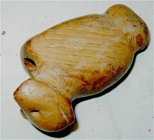 Effigy Indian Pipestone Pipe