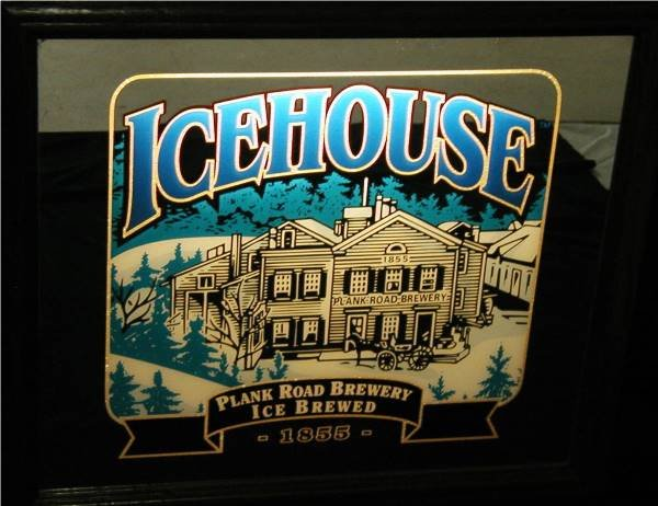 2002: Ice House Florescent Plank Road Brewery Bar Sign