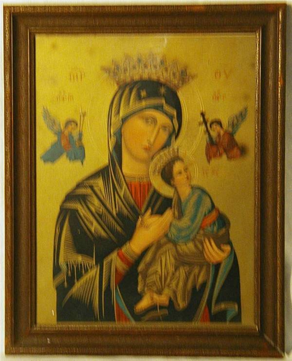 2006: Framed Orthodox Icon Painting Mother/Child