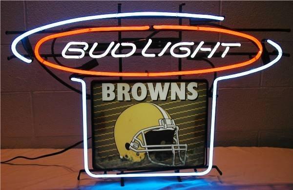 2013: Bud Light Cleveland Browns Neon & Back Lite Bar S