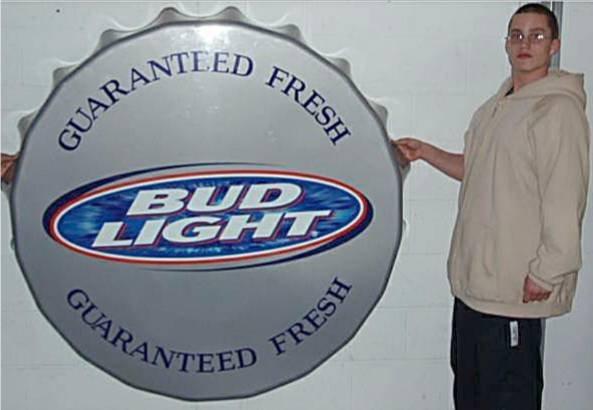 2016: Five Foot Diameter Bud Light Bottle Cap Sign