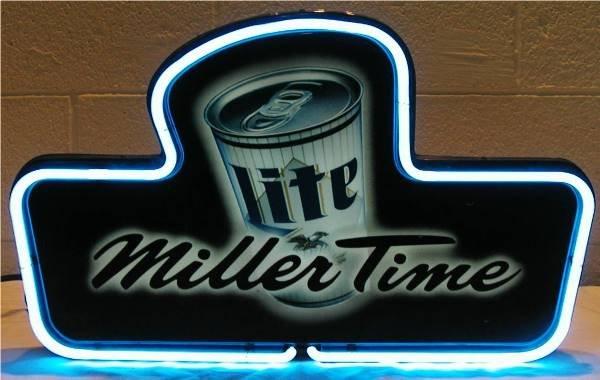 2023: Miller Time-Miller Lite Neon & Back Lite Bar Sign