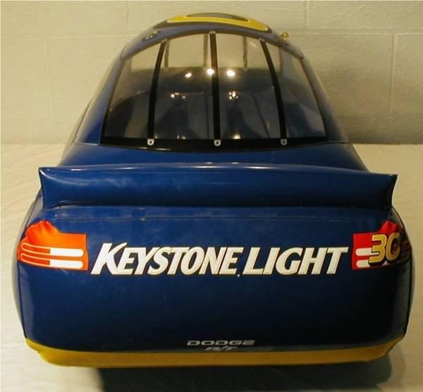 2154: Coors Keystone Light Inflatable NASCAR Bar Sign C - 2