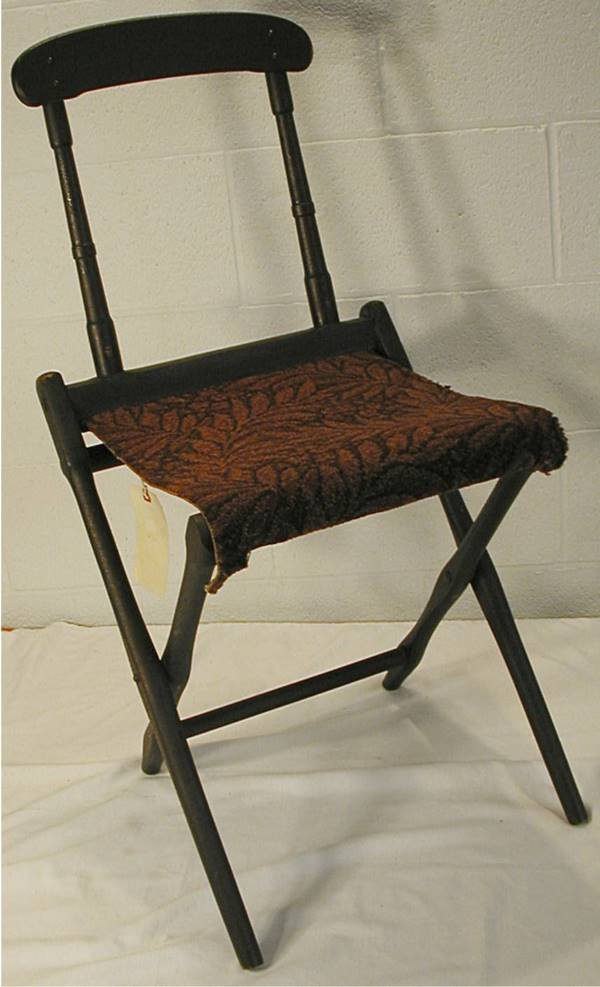 3001: Marked Graham CW Officer's Folding Camp Chair