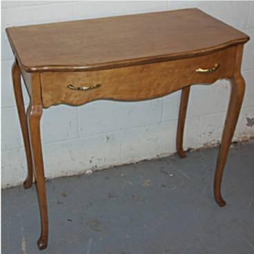 1012: Birdseye Maple Single Drawer Table