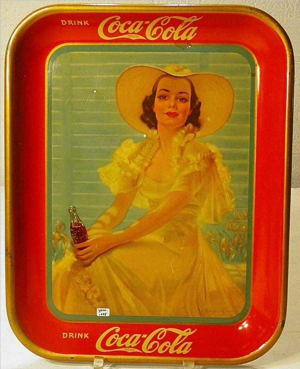 1007: 1938 Coca Cola Bottle Tray, Original
