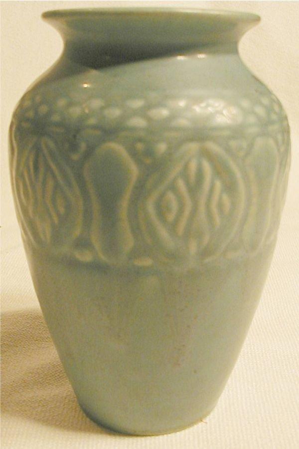 2015: Rookwood #2870 Pattern Vase, Bluish Green Color
