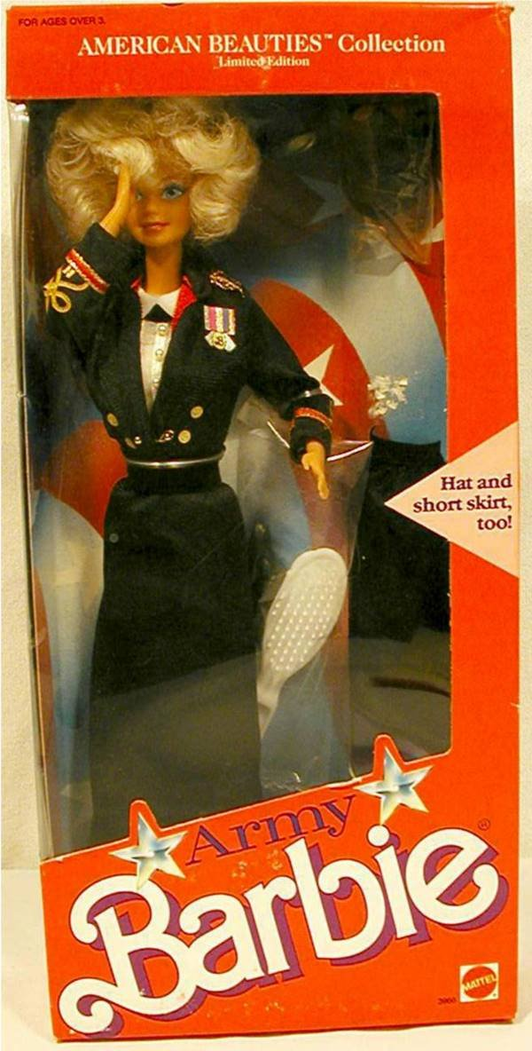 3021: 1989 Army Barbie Doll, MIB, 3966