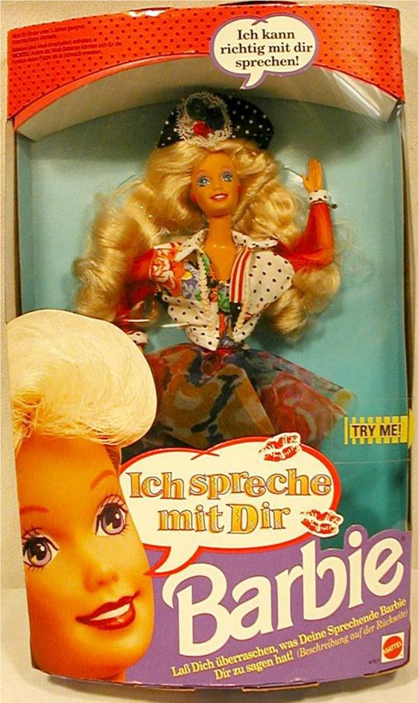 3023: German Speaking Barbie, Ich Spreche met Die , MIB