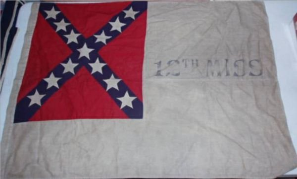 4020B: 12th Mississippi Flag 41 x 30 Hand Sewn Reunion