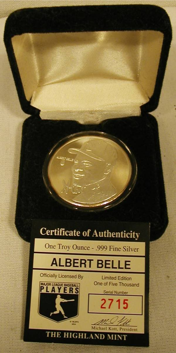 5012: One Troy Ounce of Silver, Albert Bell Coin
