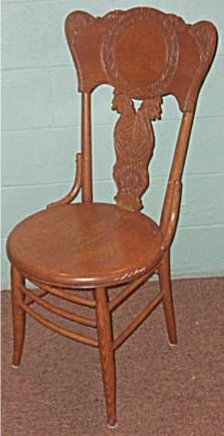 5020A: 1800's Double Dragon Pressback Chair