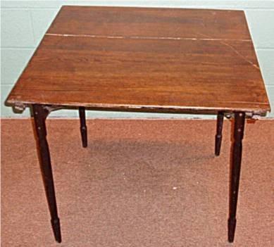 1008: Oak Primitive Folding Wooden Table