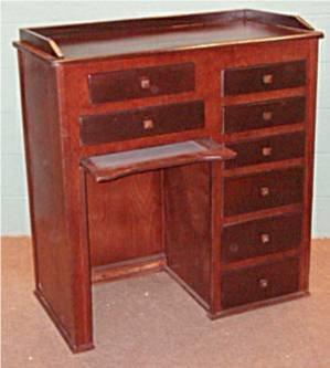 1010: Mahogany Finish Clerk/Watch Repair Desk