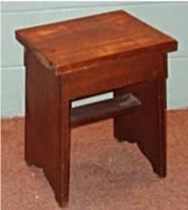 1012: Walnut Primitive Bench