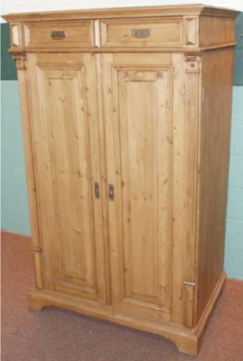 1014: Pine TV/Computer Cabinet, Victorian Style