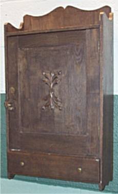 1022: Applied Carving Dark Oak Wall Medicine Cabinet