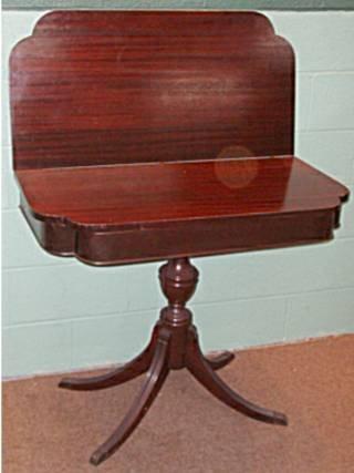 1023: Mahogany Game Table