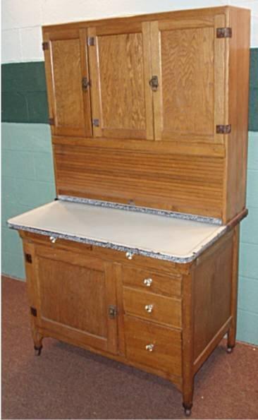 2002: Sellers Oak Hoosier Kitchen Cabinet