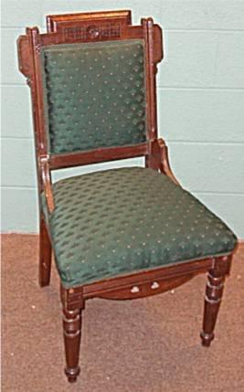 2004: Walnut Eastlake Victorian Armless Chair