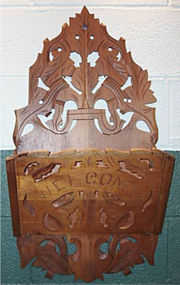 2005: Victorian Scripted Carved Magazine Wall Rack