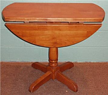 2008: Pine Plank Dropleaf Round Table
