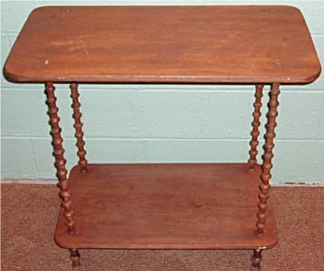 2020: Wooden Thimble Two Tier Table Stand