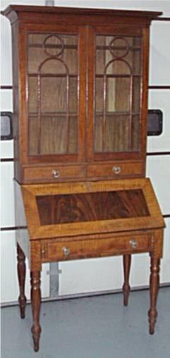 4010: RARE 1840's- 1860's Secretarial  Dropfront Desk