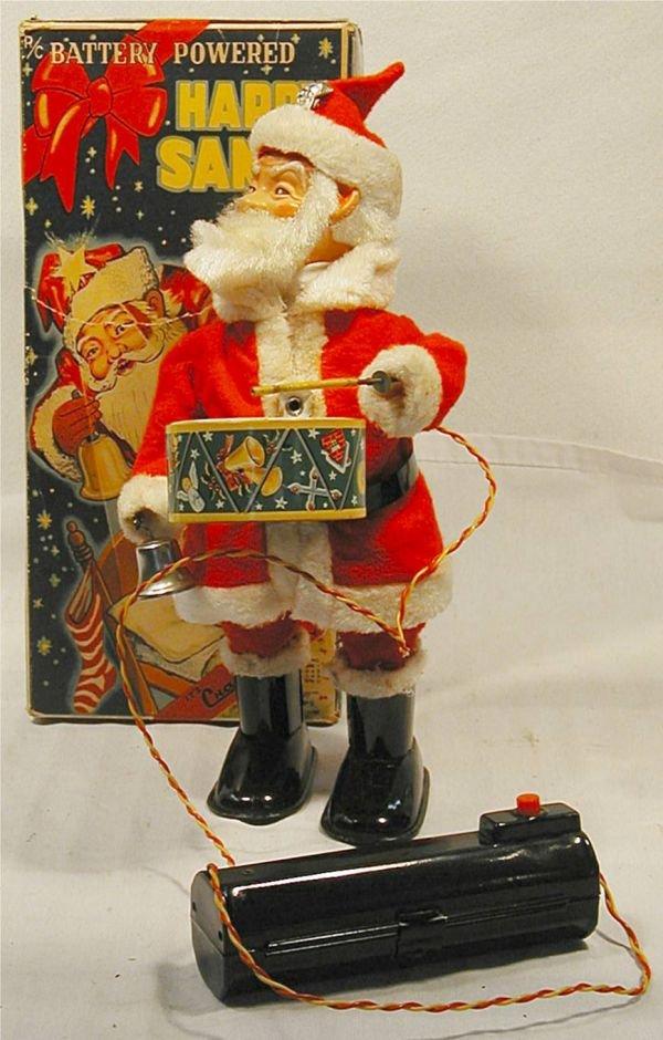 """4014: Happy Santa, Battrey Operated 10 1/2"""" High by Cr"""