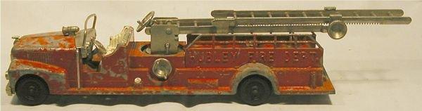 4114: Hubley #520 Fire-Aerial Ladder Truck, Original Di